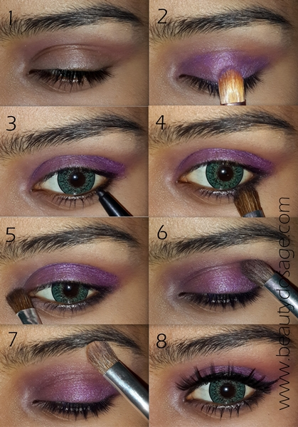 Purple Eyeshadow Tutorial: Eye Makeup For Green Eyes/ Purple Eye Makeup