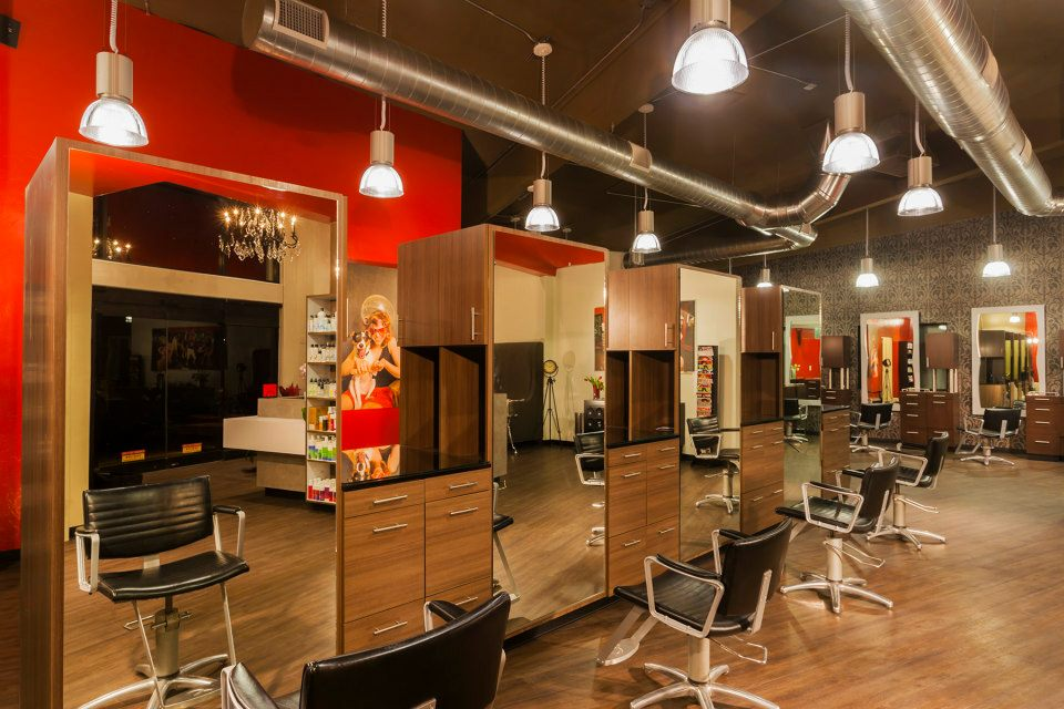 Natalie toy interior design hush salon - Interior hair salon lighting ideas ...