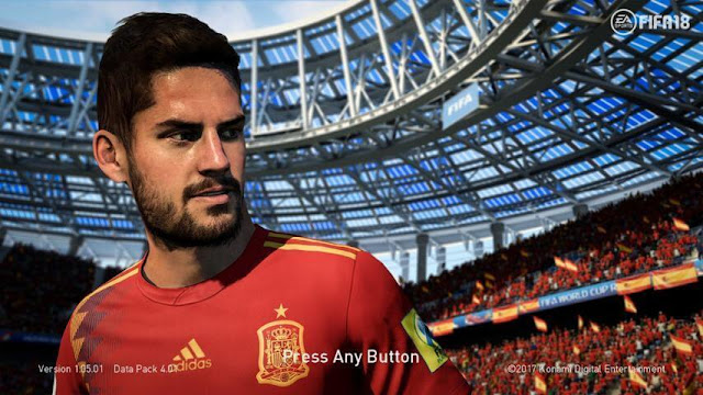 Isco World Cup 2018 Start Screen PES 2018
