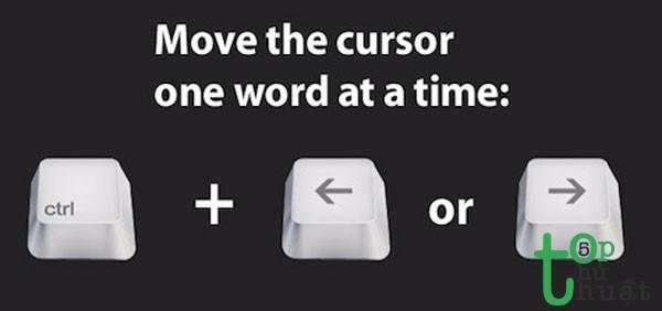 Di chuyển con trỏ chuột theo từng chữ trong đoạn văn bản