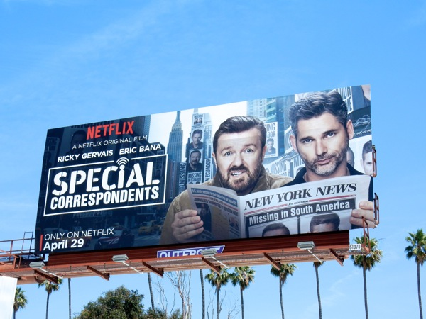 Special Correspondents movie billboard