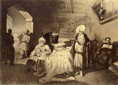 """Картина Тараса Шевченка називається """"Дари в Чигирині 1649 року"""""""