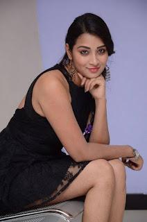 Actress Bhanu Sri Stills in Black Short Dress at Dandu Movie Audio Launch  0037