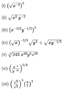 R D  Sharma Solutions Class 9th: Ch 2 Exponents of Real