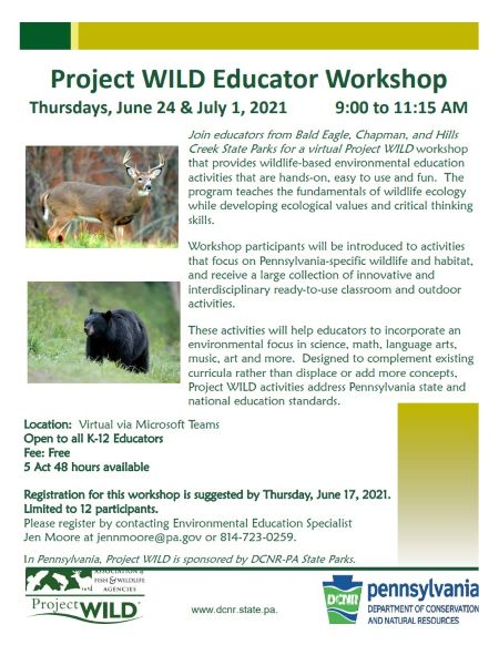6-24 & 7-1 Project Wild Educator Workshop