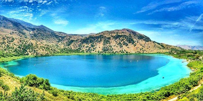 Lago di Kourna, Creta, Grecia