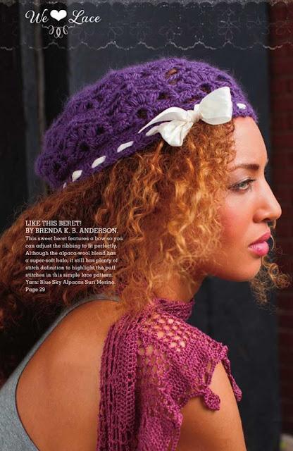 Patrón #1210: Like This Beret a Crochet