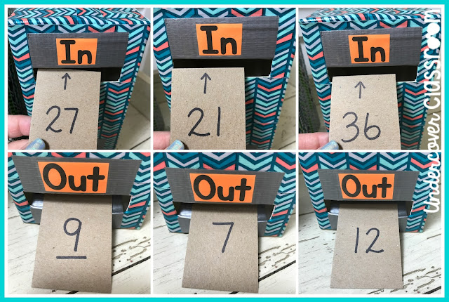 "Turn an empty juice carton into a number function box that will introduce your students to algebraic thinking. Here's a tutorial that will teach you how to make a chute that ""magically"" flips your number cards over inside an in and out machine."