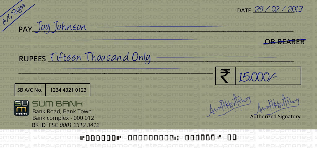 writing a cheque The important points to be remembered while writing a cheque: any date format can be used to write the current date give a.