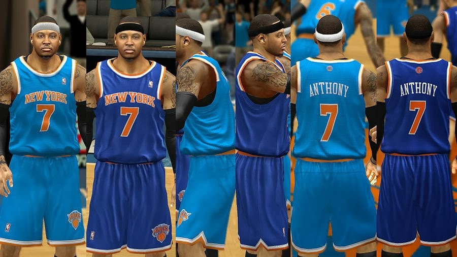 6f21485b927b NBA 2k14 New York Knicks Jersey Patch Pack - HoopsVilla