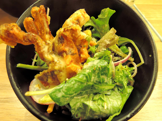 12's cafe;  camberwell, soft shell crab; salad