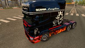 Flame skin v2 for Scania RJL Longline