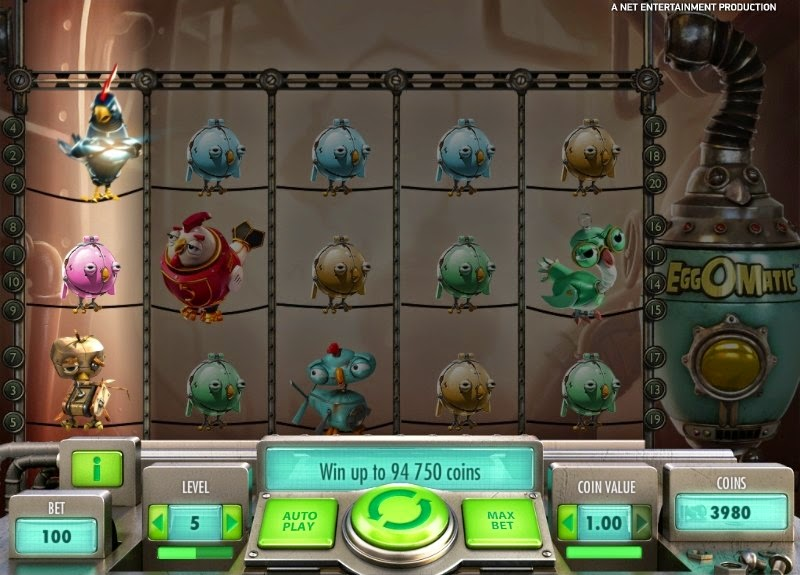 Eggomatic Video Slot Screen