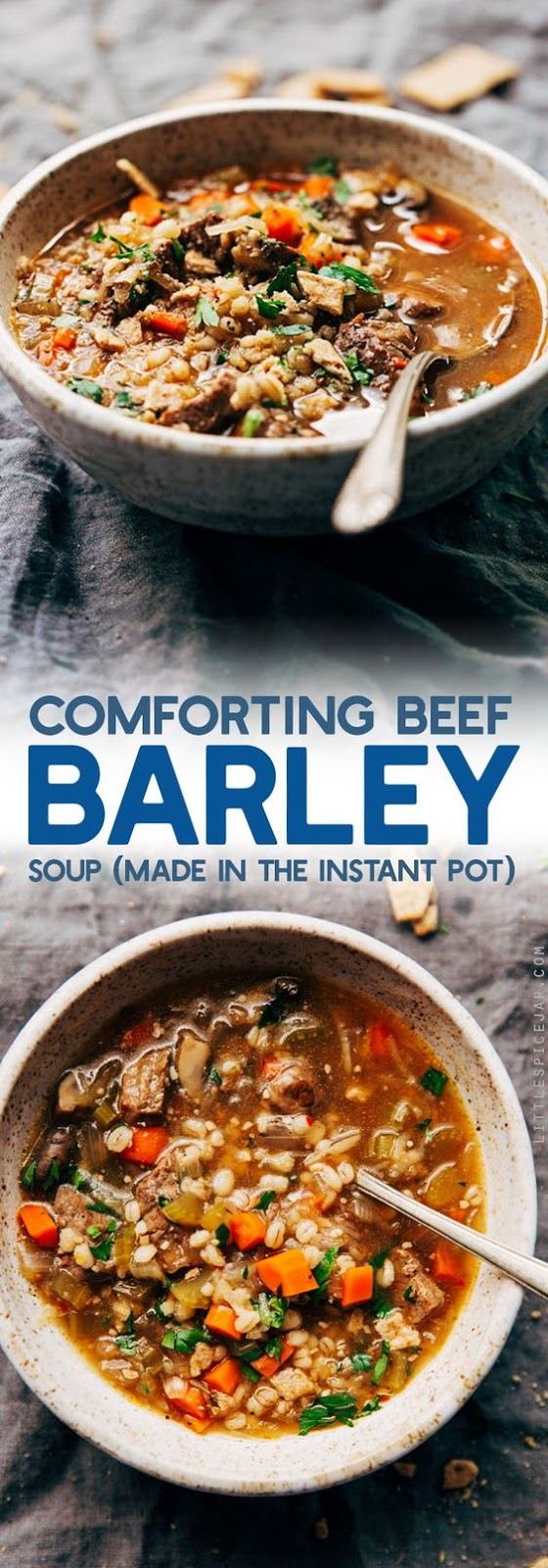 COMFORTING BEEF BARLEY SOUP (INSTANT POT) #SOUP #INSTANTPOT #LOWCARB #LUNCH