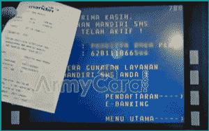 Daftar m-Banking Mandiri online lewat atm