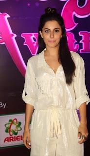 Actress Isha Talwar Stills in White Dress at Apsara Awards 2016  0005.jpg