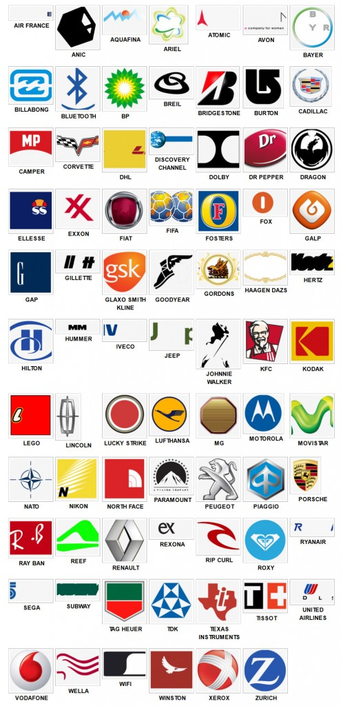 Logos Quiz Answers: Solutions: Logo Quiz Level 4 Niveau 4