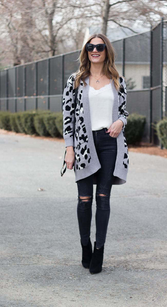 Affordable Leopard Print Cardigan