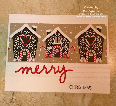 photo of Merry Christmas card with Stampin' Up! Candy Cane Lane paper