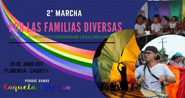 marcha gay orgullo lgbt 2017 familias lesbianas sexo travesti colombia  florencia caqueta