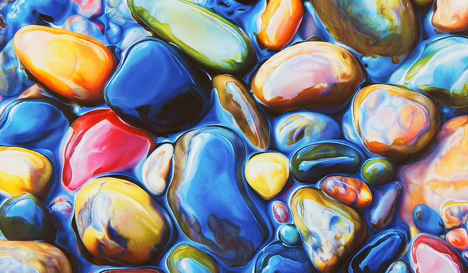 simply creative colorful riverbeds drawing by ester roi