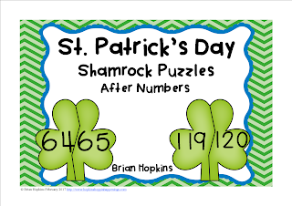 FREEBIE St. Patrick's Day After Numbers to 120 Puzzles