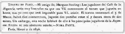 Invitación de Numa Preti a José María Baquero Vidal