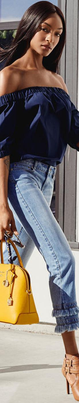 MICHAEL MICHAEL KORS Fringed Jeans