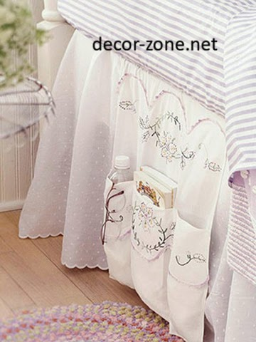 creative bedroom storage ideas, bed textiles