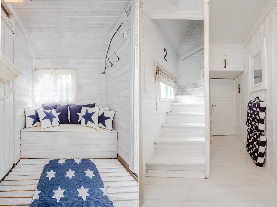 Biały domek z naturalnymi dodatkami, wystrój wnętrz, wnętrza, urządzanie mieszkania, dom, home decor, dekoracje, aranżacje, scandinavian style, styl skandynawski, rustic style, styl rustykalny, biel, white, small room, małe wnętrze