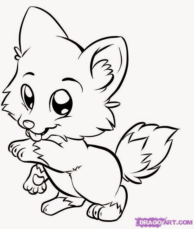 Draw Cute Baby Animals Coloring Pages For Desktop