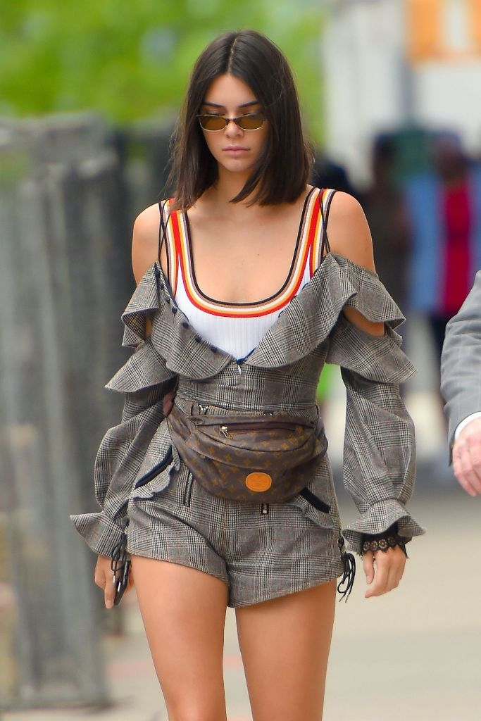 Hottest model Kendall Jenner Street Fashion at Jeffrey in Manhattan in NYC