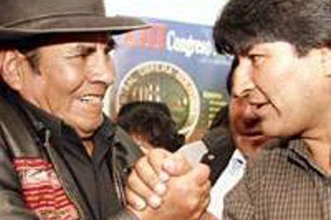 Quispe y Morales fueron dirigentes aliados entre 2000 y 2003 / WEB