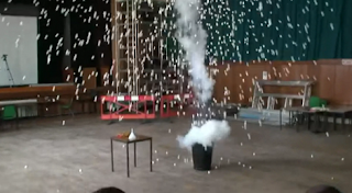 Liquid Nitrogen and Ping Pong Balls Explodes In Classroom