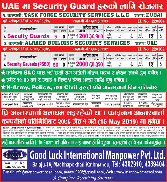 Gulf Jobs vacancy by various Manpower: Dubai मा