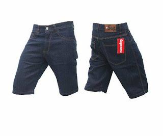 celana jeans, celana jeans pendek, celana jeans pendek biru dogker