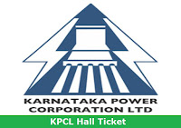 KPCL Hall Ticket 2017