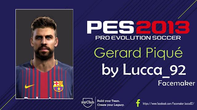 PES 2013 Gerard Piqué Face