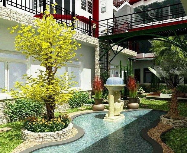 Desain Taman Cantik untuk Rumah Mewah