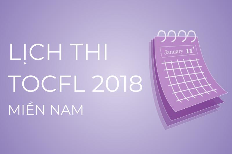 Lịch thi TOCFL khu vực miền Nam
