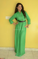 Geethanjali in Green Dress at Mixture Potlam Movie Pressmeet March 2017 010.JPG