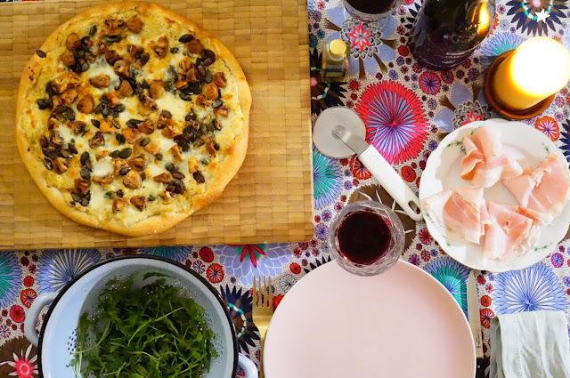 pizza artichaut champignons
