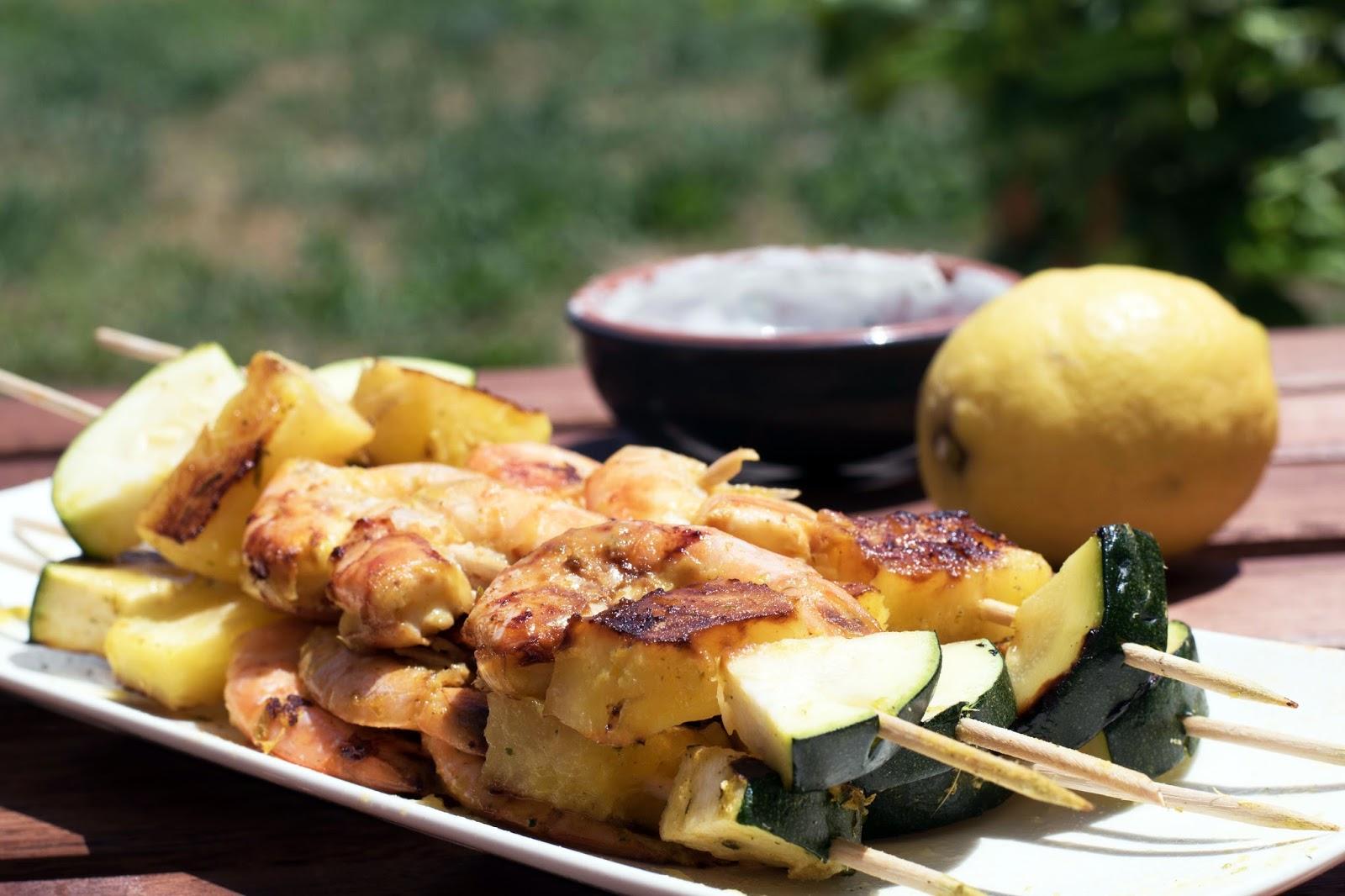 recette Brochettes crevettes