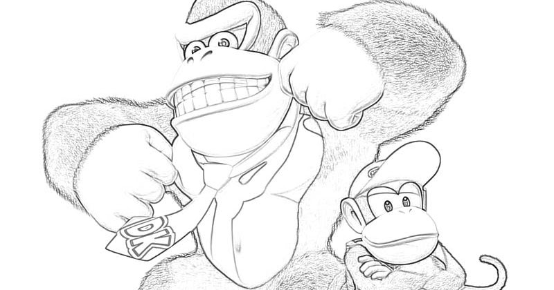 HWFD - Donkey Kong Country Coloring Pages Free Download ...