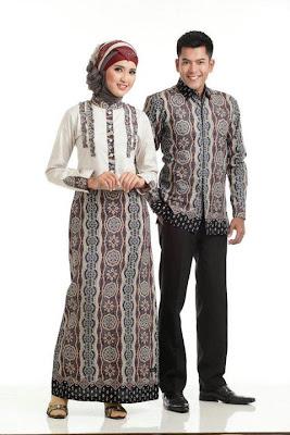 Model Baju Batik Pasangan Suami Istri Modern Terbaru