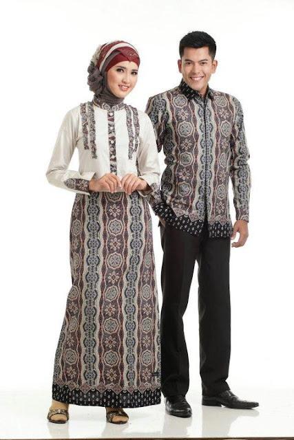 Baju Batik Couple Muslim Modern Murah