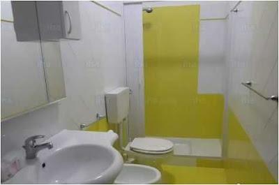 Gray Yellow Bathroom Ideas