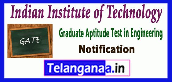 GATE Graduate Aptitude Test in Engineering Notification