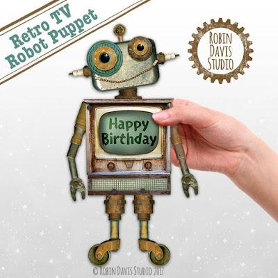 Robot Printable Puppet by Robin Davis Studio