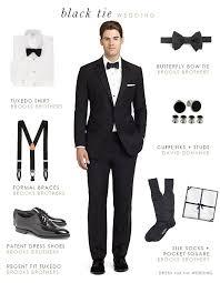 What To Wear To A Black Tie Wedding Men